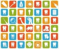 Insieme delle icone dentali Fotografia Stock Libera da Diritti