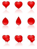 Insieme delle icone di amore. Fotografia Stock