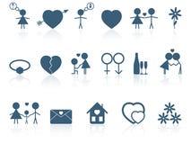 Insieme delle icone di amore. Fotografie Stock Libere da Diritti