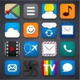 Insieme delle icone di app. Fotografie Stock Libere da Diritti