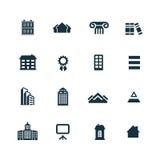 Insieme delle icone di architettura Fotografia Stock Libera da Diritti