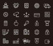 Insieme delle icone di attività bancarie e dei soldi Fotografie Stock