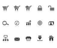 Insieme delle icone di commercio elettronico royalty illustrazione gratis