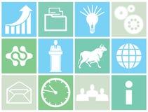 Insieme delle icone di concetto di affari Fotografia Stock