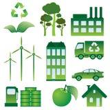 Insieme delle icone di ecologia. Fotografia Stock