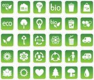 Insieme delle icone di ecologia Fotografia Stock