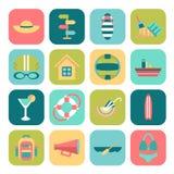 Insieme delle icone di estate Immagine Stock Libera da Diritti