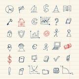 Insieme delle icone di finanze per il vostro disegno royalty illustrazione gratis