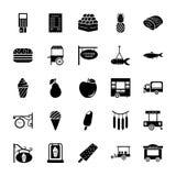 Insieme delle icone di glifo dei venditori royalty illustrazione gratis