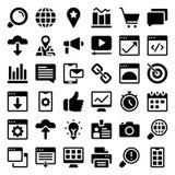 Insieme delle icone di glifo di web royalty illustrazione gratis