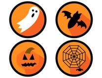 Insieme delle icone di Halloween Fotografie Stock Libere da Diritti