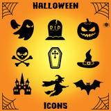 Insieme delle icone di Halloween Fotografia Stock Libera da Diritti
