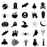 Insieme delle icone di Halloween su fondo bianco EPS10 illustrazione vettoriale