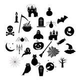Insieme delle icone di Halloween su fondo bianco EPS10 royalty illustrazione gratis