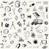 Insieme delle icone di istruzione di scarabocchio Immagine Stock