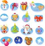 Insieme delle icone di Natale - vettore Fotografia Stock