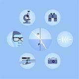 Insieme delle icone di ottica Fotografie Stock Libere da Diritti