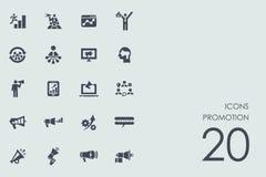 Insieme delle icone di promozione illustrazione vettoriale