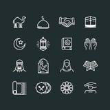 Insieme delle icone di Ramadhan Immagine Stock
