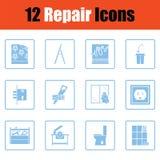 Insieme delle icone di riparazione Fotografie Stock