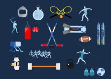 Insieme delle icone di sport Fotografia Stock Libera da Diritti