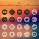 Insieme delle icone di stomatologia Fotografia Stock