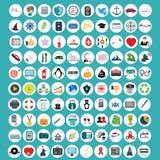 Insieme delle icone di sviluppo tecnologico e di web Immagine Stock Libera da Diritti