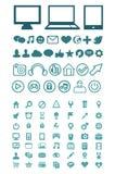 Insieme delle icone di tecnologia Immagine Stock