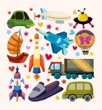 Insieme delle icone di trasporto Fotografia Stock Libera da Diritti