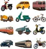 Insieme delle icone di trasporto Fotografie Stock Libere da Diritti