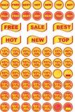 Insieme delle icone di vendite e degli elementi di progettazione Immagine Stock Libera da Diritti