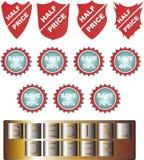 Insieme delle icone di vendite e degli elementi di progettazione Fotografia Stock