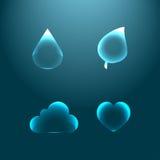 Insieme delle icone di vetro per progettazione Immagine Stock Libera da Diritti