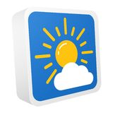 insieme delle icone di vettore di previsioni del tempo 3d illustrazione vettoriale