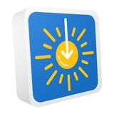 insieme delle icone di vettore di previsioni del tempo 3d royalty illustrazione gratis