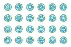 Insieme delle icone di viaggio. Fotografie Stock Libere da Diritti