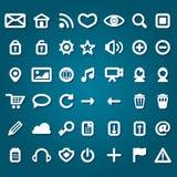 Insieme delle icone di web Immagine Stock