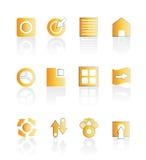 Insieme delle icone di Web illustrazione vettoriale