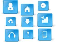 Insieme delle icone di Web Fotografia Stock