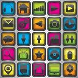 Insieme delle icone di web di colore Immagine Stock