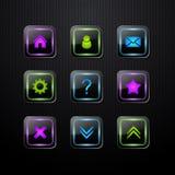 Insieme delle icone di Web di vettore Immagini Stock