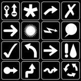 Insieme delle icone (frecce, contrassegni) Immagine Stock Libera da Diritti