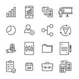 Insieme delle icone indipendenti premio nella linea stile Immagine Stock