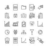 Insieme delle icone indipendenti premio nella linea stile Immagini Stock Libere da Diritti