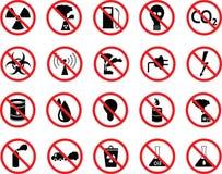 Insieme delle icone: inquinamento, industriale, pericoloso Fotografie Stock