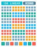 Insieme delle icone lineari Fotografie Stock Libere da Diritti