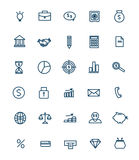 Insieme delle icone lineari di web per l'affare, finanza Immagini Stock Libere da Diritti