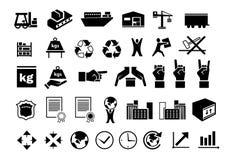 Insieme delle icone logistiche 2 Immagine Stock