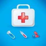 Insieme delle icone mediche Immagini Stock