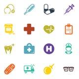 Insieme delle icone mediche Immagine Stock Libera da Diritti